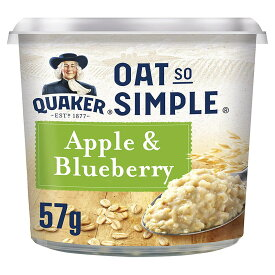 Quaker Oat So Simple Express Pot Apple and Blueberry Porridge 57 g (Pack of 8)