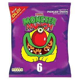 Walkers Mega Monster Munch - Pickled Onion (6x25g) 歩行メガモンスタームンク - 漬けタマネギ( 6X25G )