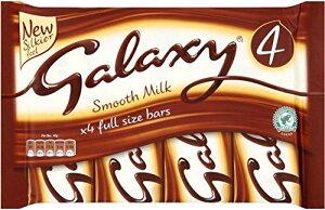 Galaxy Milk Chocolate Bar (4x42g) 銀河ミルクチョコレートバー( 4X42G )