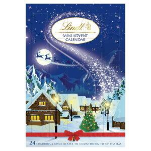 Lindt Milk Chocolate Mini Advent Calendar 115g クリスマス ミニアドベントカレンダー リンツ ミルクチョコレート スイスチョコ【英国直送】