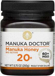 Manuka Doctor マヌカハニー バイオアクティブ 20+ (MGO60+ UMF20+) 250g マヌカドクター Bio Active Manuka Honey はちみつ 【並行輸入品】