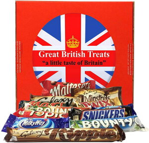 英国 マースチョコレート 12種 ギフトボックス Mars Gift Box ? 12 British Chocolate Bars (Mars Bounty Maltesers Galaxy Minstrels Topic Snickers Milky Way Ripple)