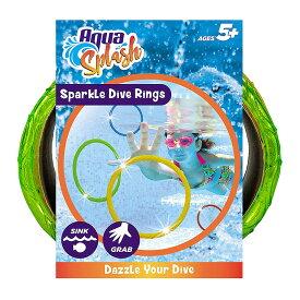 Aqua Games Dive Rings (Set of 6) by Aqua Leisure プール用おもちゃ リング 6個セット 水泳レッスンに キラキラ