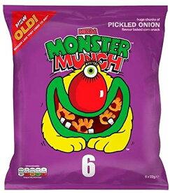 Mega Monster Munch Pickled Onion 22g x 6 per pack (Pack of 2) [並行輸入品]