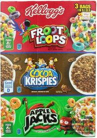ケロッグのトライ楽しみシリアル品揃えパック、ループ Froot、ココア ・ アップル ジャック、58 オンス Kellogg's Tri-Fun Cereal Assortment Pack, Froot Loops, Cocoa Krispies and Apple Jack, 58 Ounce