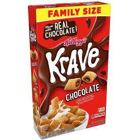 ケロッグの Krave の朝食シリアル、チョコレート、19.9 オンス Krave Breakfast Cereal, Chocolate, 19.9 Oz
