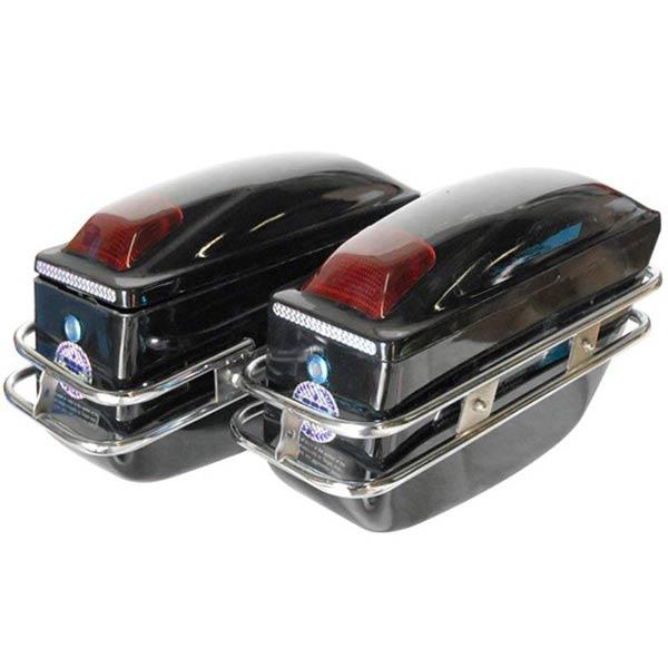 バイク用 プラスチック サイドバッグ 2個セット サドルバッグ ハード バイク モーター サイクル オートバイ 2輪 二輪 外装 車体廻り タンク ツーリング キャンプ サドルボックス