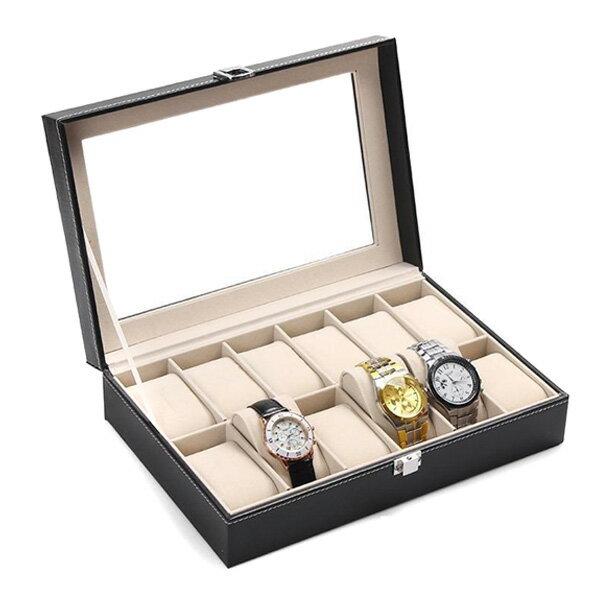 送料無料 腕時計 時計 収納ケース 12本収納 時計収納ケース 時計収納ボックス 腕時計ケース 時計収納box 12本 収納 ケース ウォッチ 箱 収納箱 インテリア 送料無料