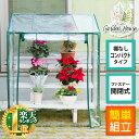 ビニール温室 温室 GH-FS01 コンパクト 家庭用 ビニールハウス フラワースタンド ガーデンハウス フラワーハウス グリ…