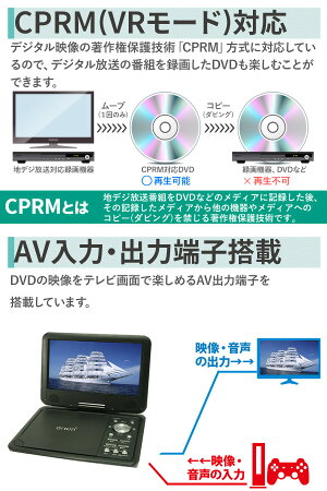 DVDプレーヤーポータブル3電源車載バッグ付CPRMレジューム本体ACDCバッテリー内蔵ポータブルDVDプレーヤー9インチDVDDVDプレイヤーポータブルDVDプレイヤーSDカード録音USBSD再生充電送料無料後部座席カーバッグ