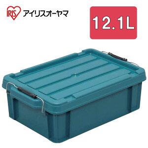 コンテナ コンテナボックス バックルコンテナ 蓋付き 収納ボックス 収納ケース ツールボックス 大容量 おしゃれ アイリスオーヤマ プラスチック製 工具収納 工具箱 ブルーグリーン 12.1L バ