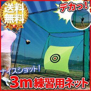 ゴルフ ゴルフネット 練習用 目印付 大型 [ 3m × 3m ] 3メートル 練習用ネット ネット バッティング 置型 ゴルフ アプローチ 野球 サッカー テニス サーブ トレーニング 簡単設置 送料無料