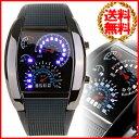 【送料無料】 LED デジタル腕時計 スピードメーター デザイン 生活防水 タコメーター クォーツ 男性用 時計 腕時計 メ…