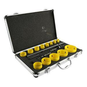ShopXJ ホールソー セット ハイス鋼 木工 アタッシュケース 付き 穴あけ 電動ドリル ホルソー 13PCS (19・20・22・25・29・32・35・38・44・51・57・67・76 セット)