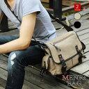 ショルダーバッグ メンズ 斜めがけ 2way 帆布 帆布バッグ キャンパス カジュアル アウトドア 人気 メンズバッグ ズッ…