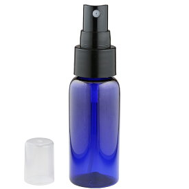 スプレー容器 PET 青色 50ml (遮光タイプ) 霧吹き スプレーボトル 携帯遮光 詰め替え容器