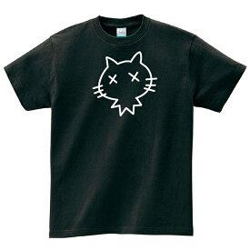 ダメネコ 黒 Tシャツ メンズ レディース 半袖 服 ゆったり おしゃれ トップス ペアルック プレゼント 大きいサイズ 綿100% 160 S M L XL