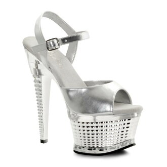[#SH-ILLP-659] 6.5 inch heels / pinherladies sandals and imports shoes [large size and] /slv/16-18/sandal