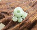 【10%割引クーポン配布中】 数珠パーツ ビルマ翡翠 11ミリ Tホール 親玉 ボサ 天玉 道具セット