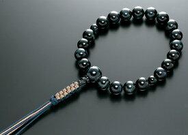 【10%割引クーポン配布中】 数珠 男性用 念珠 略式数珠 青虎眼石 共仕立 正絹紐房 全宗派対応 桐箱入
