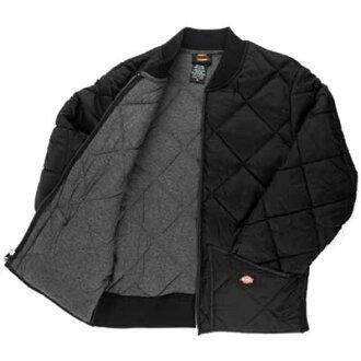 ( Dickies ) DICKIES DIAMOND QUILTED JACKET ダイアモンドキルティッド jacket black