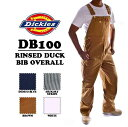 DICKIES(ディッキーズ)RINSED DUCK BIB OVERALL 【BROWN DUCK】オーバーオール ブラウン