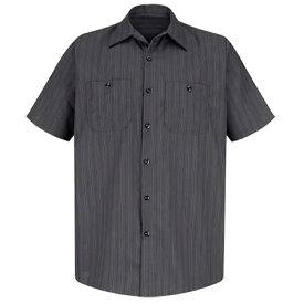 REDKAP(レッドキャップ)SHORT SLEEVE INDUSTRIAL STRIPE WORK SHIRTショートスリーブ ストライプワークシャツ