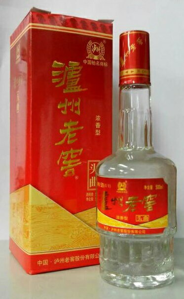 瀘州老窖 濾州老窖(ろしゅうろうこう) 頭曲 白酒 丸型タイプ 52度 500ml 、中国白酒♪