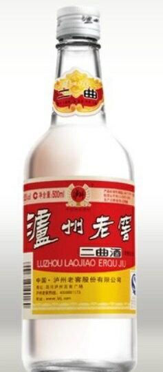 瀘州老窖(ろしゅうろうこう) 二曲 52度、500ML X 12本(1ケース売り)、中国白酒♪