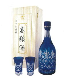 中国白酒 20年陳醸 高粮酒(高糧酒)53度 700ML、化粧箱付き、20年熟成させた最高級高粮酒♪