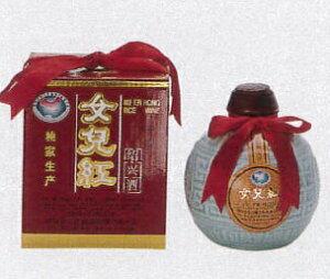 横浜中華街 女児紅(紹興酒)、500mlX 12本(1ケース売り)、壷・化粧箱付き・伝説の老酒・縁起のよいお酒です♪