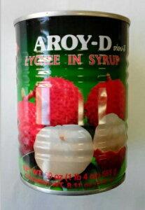 横浜中華街 AROY-D ライチ缶 糖水茘枝(シラップ漬け)、565g、タイ南国名物、エスニック料理のデザートに欠かせない♪