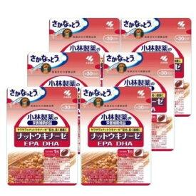 【送料無料】 小林製薬 【栄養補助食品】 ナットウキナーゼ EPA DHA (約30日分) × 6袋セット