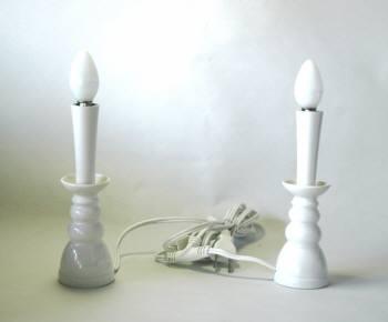 神具 電気 ローソク 蝋燭 電気蝋燭 白