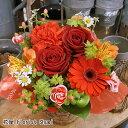 ツインローズアレンジ 送料無料 あす楽対応 生花 フラワーアレンジメント バラ 誕生日 花 誕生日プレゼント 母 女性 …