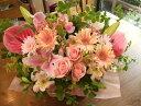 【送料無料】アレンジメント・ピンク系 F メッセージカード付き 花 フラワー ギフト 結婚祝い 結婚記念日 花 妻 両親 …