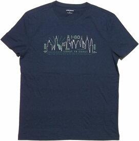 バナナリパブリック 半袖 プリントTシャツ ネイビーBANANA REPUBLIC T SHIRTS 091