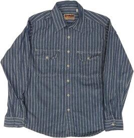 カムコ 長袖 ストライプ シャンブレーシャツ ブルー メンズ CAMCO CHAMBRAY SHITRS 027
