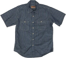 カムコ 半袖 ストライプ シャンブレーシャツ ブルー メンズ CAMCO CHAMBRAY SHITRS 021