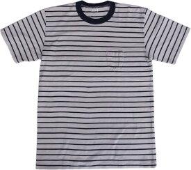 エントリーエスジー バレンシア フロスティホワイト/クラシックネイビー 半袖 ポケット付き ボーダー Tシャツ ENTRY SG VALENCIA FROSTY WHITE/CLASSIC NAVY 191