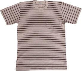 エントリーエスジー バレンシア フロスティホワイト/バーガンディ 半袖 ポケット付き ボーダー Tシャツ ENTRY SG VALENCIA FROSTY WHITE/BURGUNDY 195