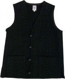 オルテガ チマヨベスト 別注 黒 無地 ブラック メンズ ORTEGA'S HAND MADE CHIMAYO VEST BLACK 002