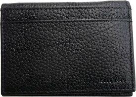 コールハーン 本革製 レザー カードケース 黒 ブラック COLE HAAN LEATHER CARD CASE 003