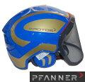 【PFANNER】ファナープロトスインテグラルフォレストヘルメット≪ブルー/ゴールド≫-送料無料-