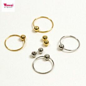 イヤリング金具 10mm 玉付 1ペア | ビーズ イヤリング アクセサリー金具 日本製 トーカイ