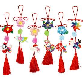 つるし雛キットセット |ビーズ ステッチ キット シェイプド 吊るし雛 つるし雛 セット 吊るし台 手作り 手芸 トーカイ