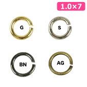 ビーズ金具丸カン1.0×7mm【メール便可】|ビーズ|金具|丸カン|アクセサリー金具|手作り|手芸|通販|
