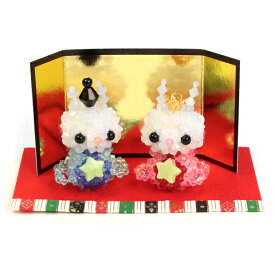 ビーズ ビーズキット キラ星 うさぎのおひなさま BK-69 【メール便可】|ビーズキット|ホビックス|うさぎ|ウサギ|おひなさま|お雛様|ひな祭り|雛祭り|置物|手芸|手作り|