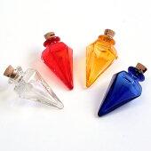 ビーズその他ビーズ・パーツガラスボトル(アロマボトル)フタ付きトンガリ【メール便可】|ビーズ|ガラス|トンガリ|アロマボトル|トーカイ|