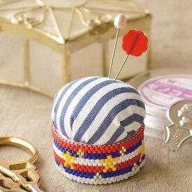 ビーズ ビーズステッチキット ピンクッションキット スター BFK-504 【メール便可】|キット|ビーズキット|ステッチ|ビーズステッチ|可愛い|針山|裁縫道具|MIYUKI|ミユキ|